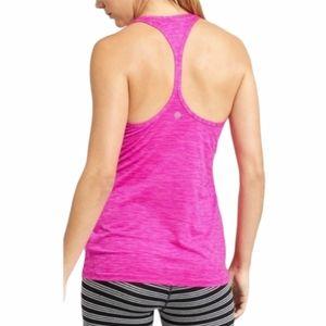 Athleta Pink Shadow Stripe Chi Tank Top